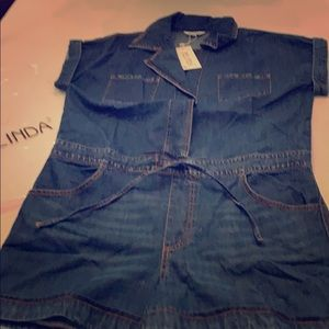 Other - Jean Shorts Jumpsuit